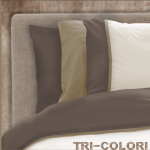 BonnaLetto Tri-Colori Taupe-Ecru-Wit