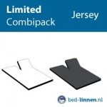 splittopper hoeslaken jersey limited combipack wit-antraciet